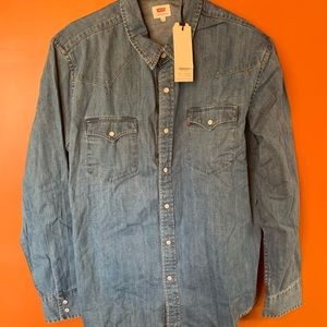 Levi's Denim Snap Button S Long Sleeve